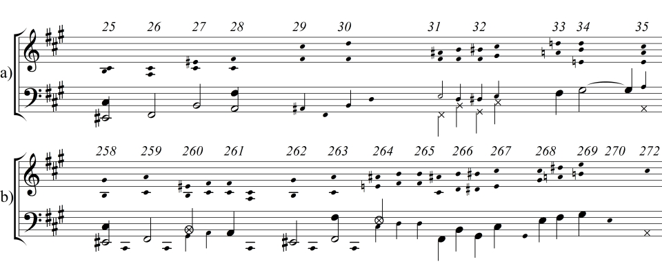 7) Vergleich Überleitung 1. und 3. Satz